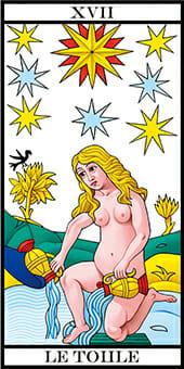 Tarocchi di Marsiglia La Casa Dio La Stella le toule l etoile Tarot RWS