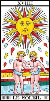 Tarocchi di Marsiglia Il sole le soleil Tarot RWS