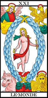 Tarocchi di Marsiglia il mondo le monde Tarot RWS