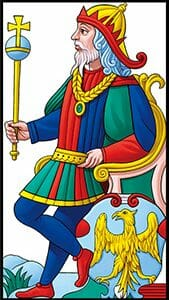 Tarocchi di Marsiglia L'Imperatore L'Empereur