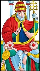 Tarocchi di Marsiglia Il Papa Le Pape Tarot RWS