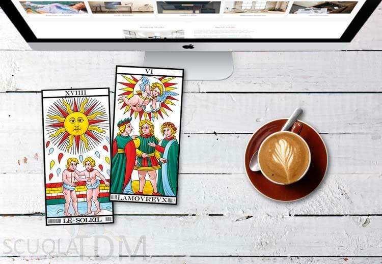 Il Sole e L'Innamorato Tarocchi di Marsiglia Combinazioni