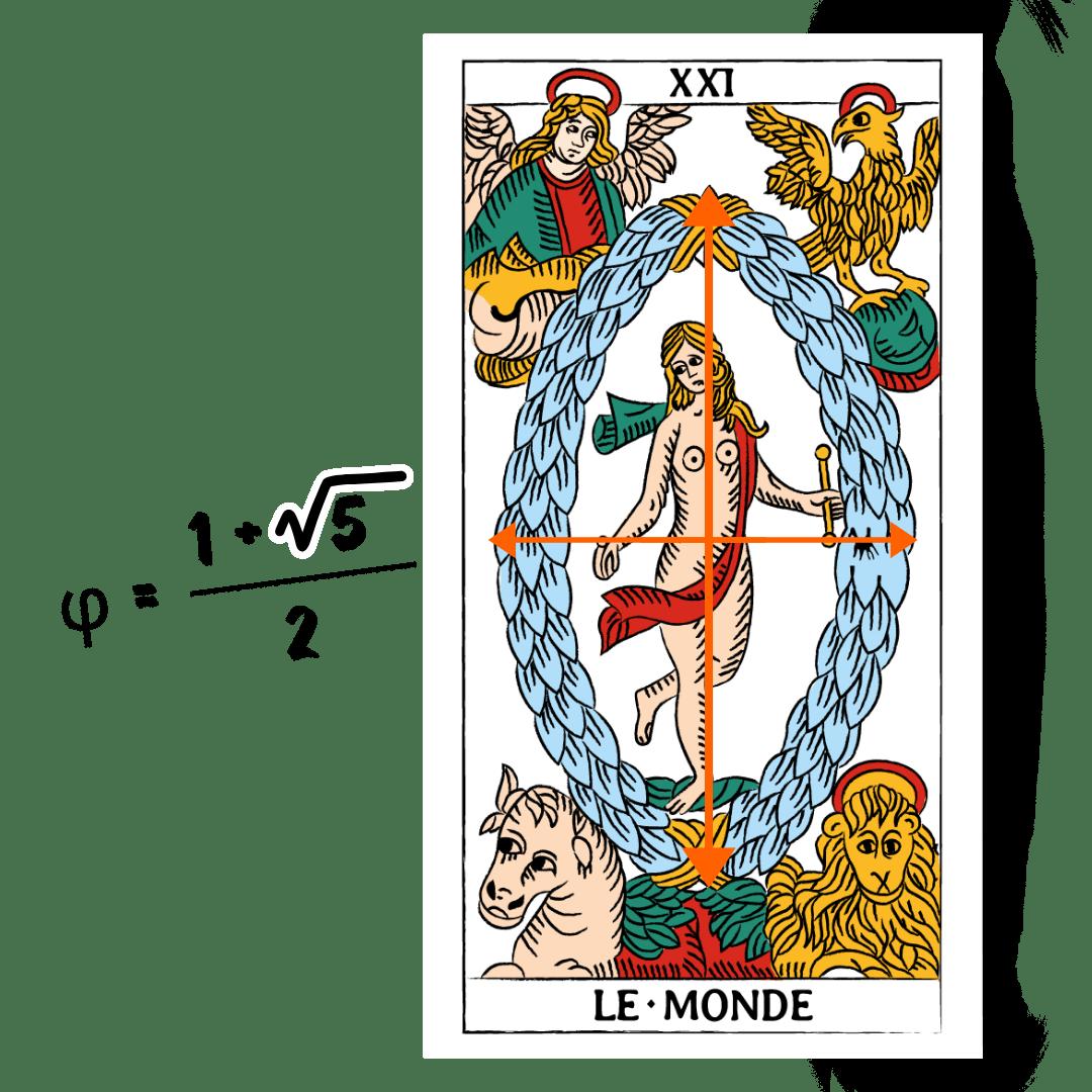Tarocchi di Marsiglia Francesco Guarino Il Mondo Sezione Aurea
