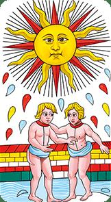 il sole conver tarocchi di marsiglia guarino