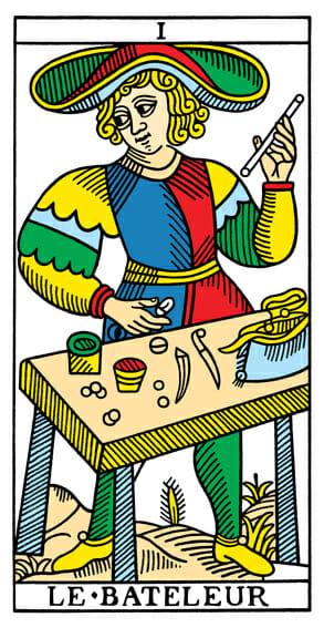 Le Bateleur Il Bagatto Nicolas Conver 1760 Nicolas Conver 1880 Tarocchi di Marsiglia Jodorowsky Camoin CBD Tarot