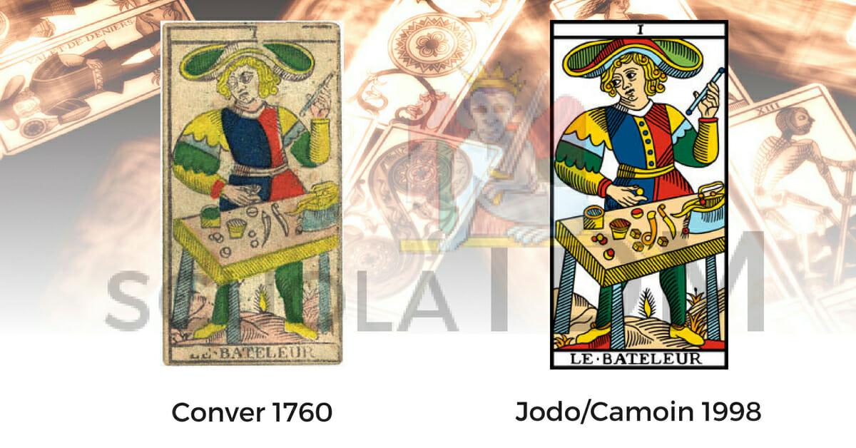 Le Bateleur Il Bagatto Nicolas Conver 1760 Nicolas Conver 1880 Tarocchi di Marsiglia Jodorowsky Camoin