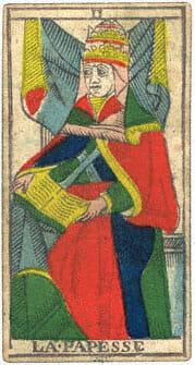 La Papesse Conver 1760 Tarocchi di Marsiglia