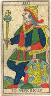 L'Empereup L'Imperatore Conver 1760 Tarocchi di Marsiglia