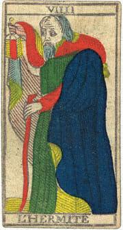 L'Hermite L'Eremita Conver 1760 Tarocchi di Marsiglia