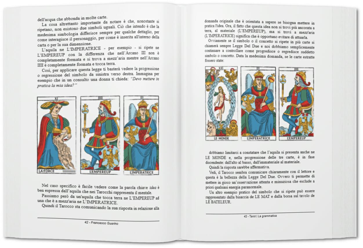 Libro Tarot La Grammatica Aperto 2