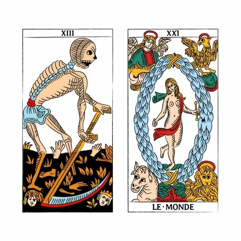 Tarocchi di Marsiglia XIII Il Mondo