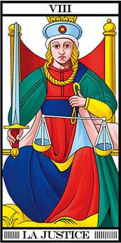 Tarocchi di Marsiglia la giustizia la justice Tarot RWS