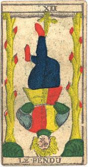 L'Appeso Le Pendu Conver 1760 Tarocchi di Marsiglia
