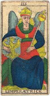 L'Imperatrice Conver 1760 Tarocchi di Marsiglia