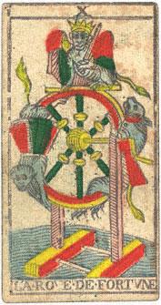 La Rove de Fortvne La Ruota di Fortuna Conver 1760 Tarocchi di Marsiglia