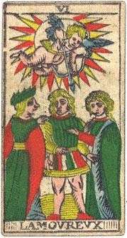 Lamovrevx L'Innamorato Conver 1760 Tarocchi di Marsiglia