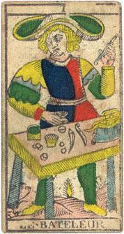 Le Bateleur Il Bagatto Conver 1760 Tarocchi di Marsiglia