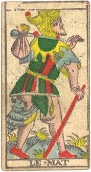 Le Mat Il Matto Conver 1760 Tarocchi di Marsiglia