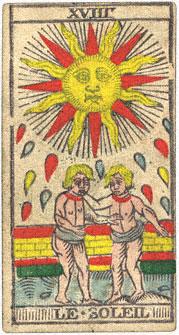 Le Soleil Il Sole Conver 1760 Tarocchi di Marsiglia